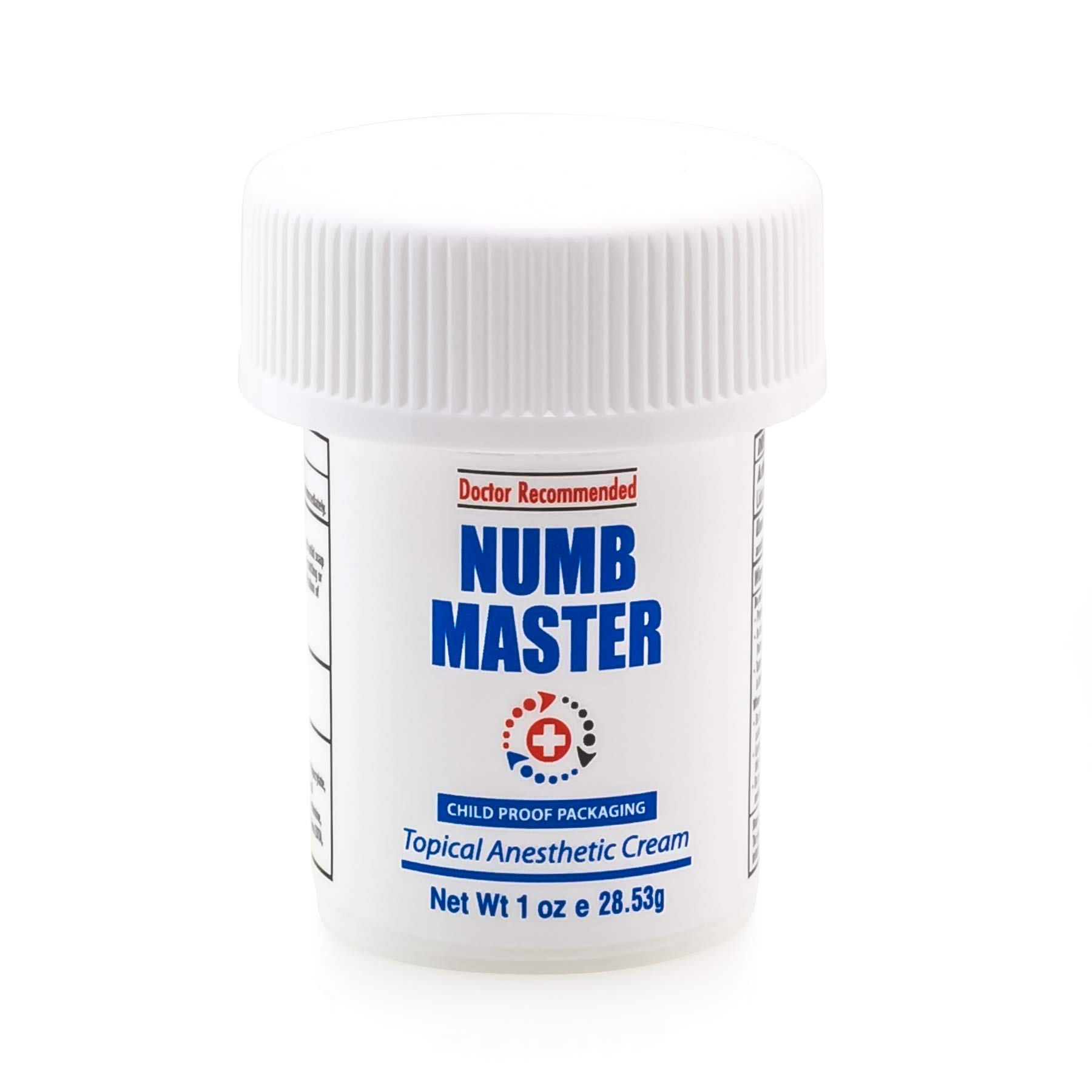 Numb Master 5% Lidocaine Topical Numbing Cream for Pain Relief, 1oz Max Strength Fast Acting Non Oily Local Anesthetic, Made in USA by Clinical Resolution Laboratory