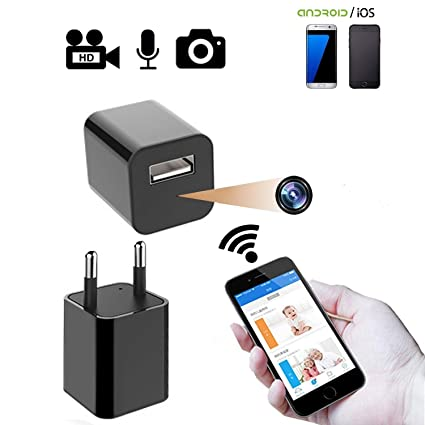 CAM 360 SAFETYNET SmartHomes Hidden WiFi HD 1080p Mini USB Wall Charger  Wireless Indoor Security Spy Camera with Motion Detection with 32 GB Memory
