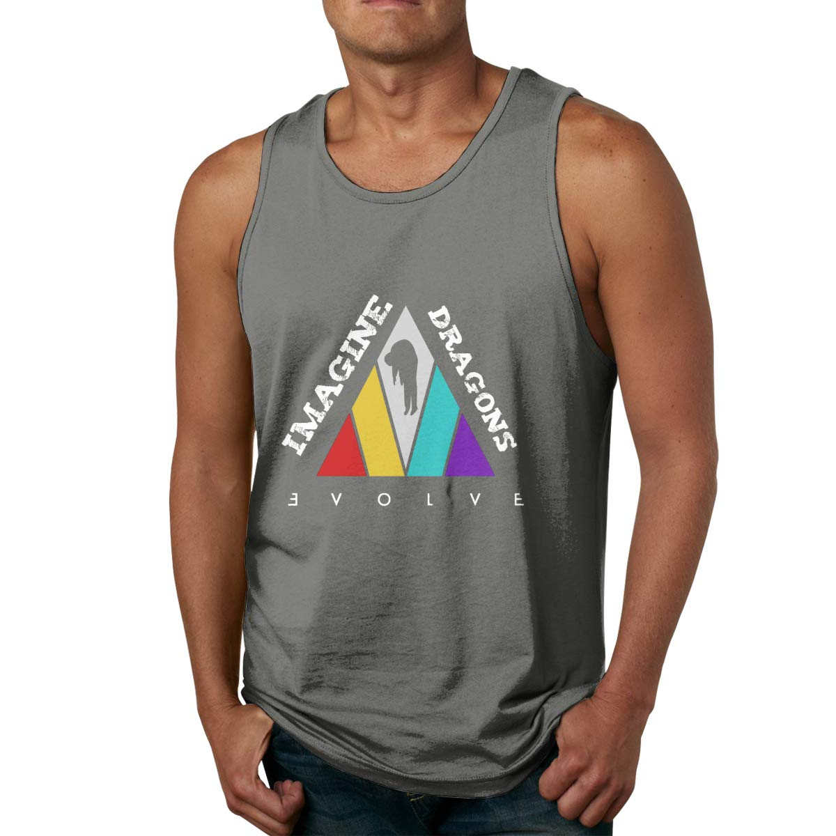 Imagine-The Dragons-Evolve Mens Cool Breathable Tank Top Funny Soft Lightweight Tees S-3XL