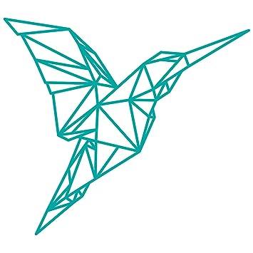 WANDKINGS Wandtattoo   Origami Style Kolibri   130 X 115 Cm   Türkis   Wähle