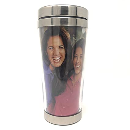 69222048300 Amazon.com: Engy DIY Photo Insert 16 oz Stainless Steel Tumbler, Coffee Cup,  Travel Mug, Double Wall with Stainless Steel Lid: Kitchen & Dining