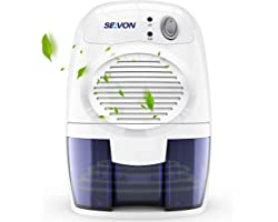 SEAVON Electric Dehumidifier for Home, 2200 Cubic Feet (225 sq ft) Portable and Compact 16 oz Capacity Quiet Dehumidifiers fo