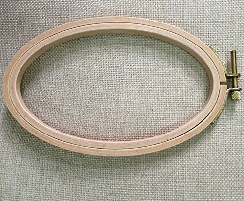 6.33.95 Inch Cross Stitch Wooden Embroidery Hoop Ellipse Craft Tool- 1610cm
