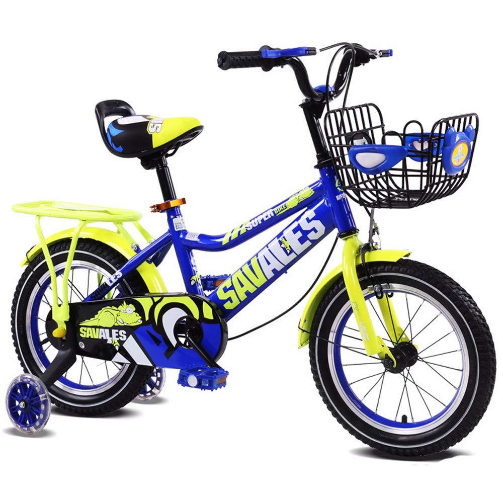 Bangxiu Bicicleta estática de Fitness Niños Chicos Gilrs Bike con Stablizers 12 Pulgadas Edad 3-5Y Manillar y Asiento Ajustables (Color : Rojo)