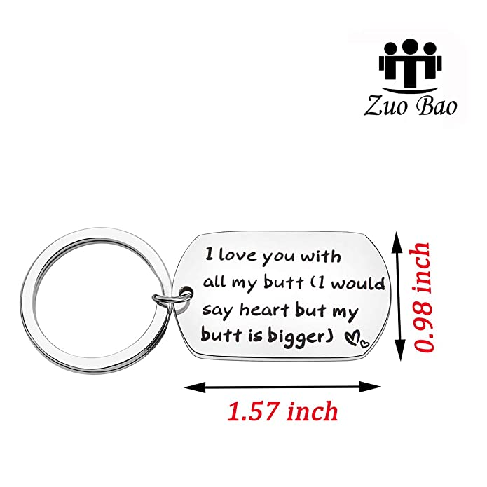 Amazon.com: Zuo Bao Funny llavero I Love You con todos los ...