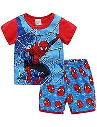 Spiderman Cartoon Pajamas Short Set for Boys