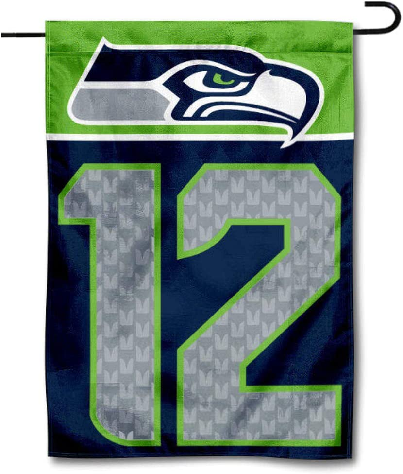 WinCraft Seattle Seahawks 12th Man Decorative Yard Garden Flag