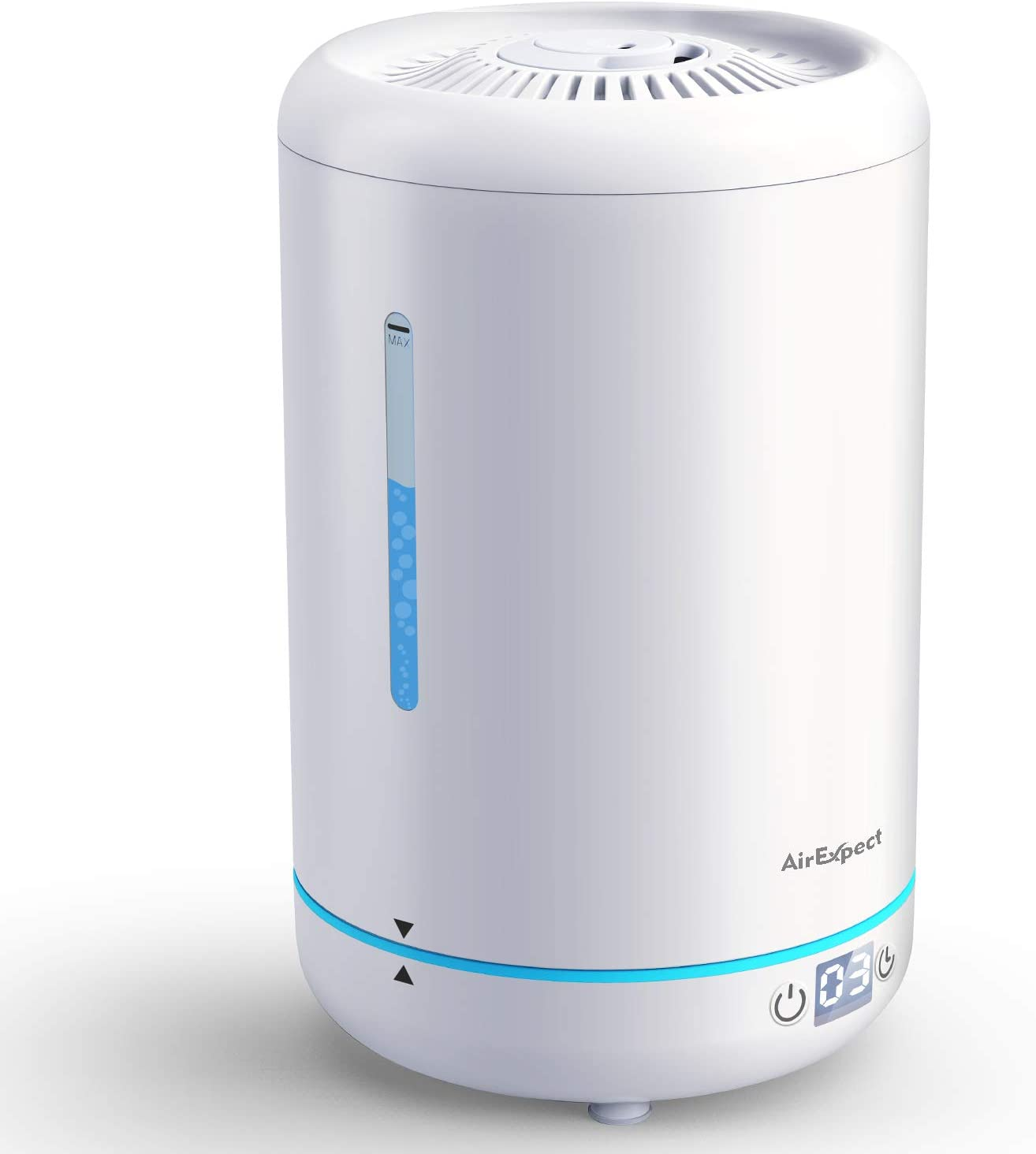 Office Home 5L//1.32Gal Water Tank Top Fill Cool Mist Ultrasonic Humidifiers with Adjustable Mist Output for Bedroom ROCKPALS Humidifiers for Bedroom