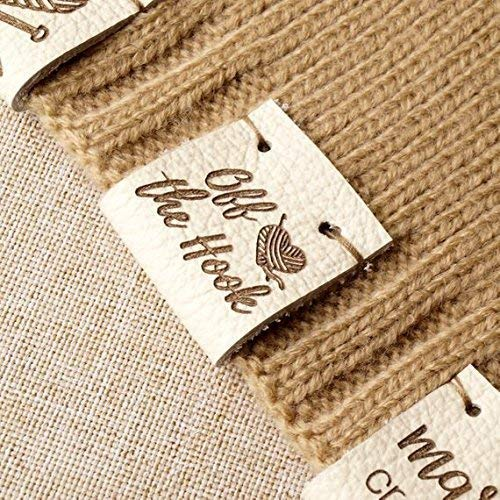 Custom clothing labels personalized with your logo or custom text leather labels