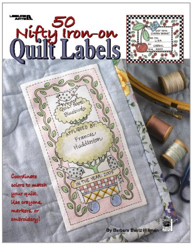 50 Nifty IronOn Quilt Labels  Leisure Arts #3466