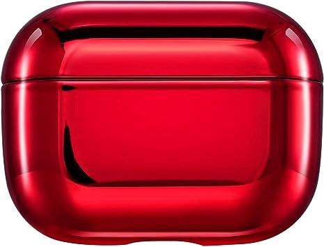Urhause Funda AirPods,Funda Silicona Compatible con Apple Airpods Pro,Nuevo Estuche AirPods 360 Grados Duro PC Protectora Accesorios Funda Galvanoplastia Delgada Case para Apple Airpods Pro,Rojo: Amazon.es: Electrónica