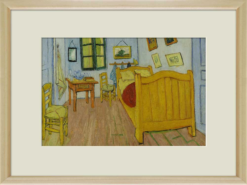 Creative 3D Visual Effect Wall Mural The Bedroom by Vincent Van Gogh ...