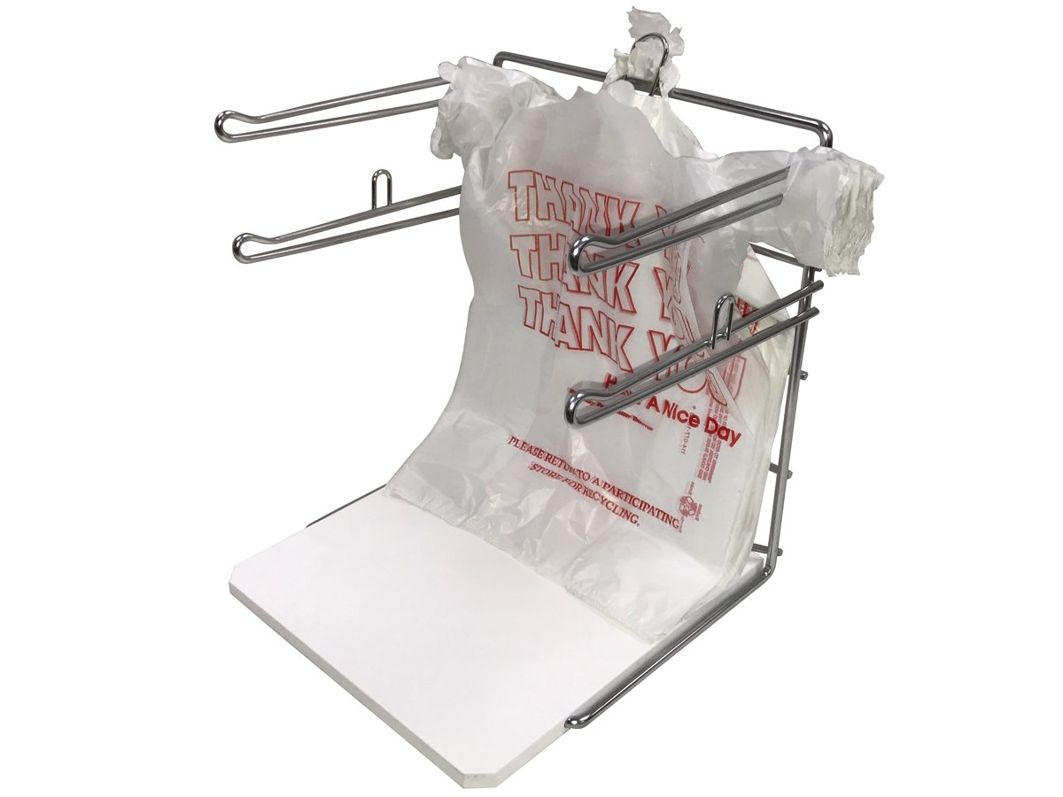 Counter Top T-Shirt Bag Rack/Retail Plastic Bag Dispenser & Holder - Bag Stand with Base - 2 Pack by Store Fixtures Direct (Image #1)