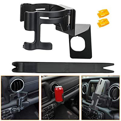 Cup Holder Mobile Phone Mount Braket Cradle for 2020-2020 Jeep Wrangler JL Sports Sahara Unlimited & JL Rubicon Gladiator JT: Automotive