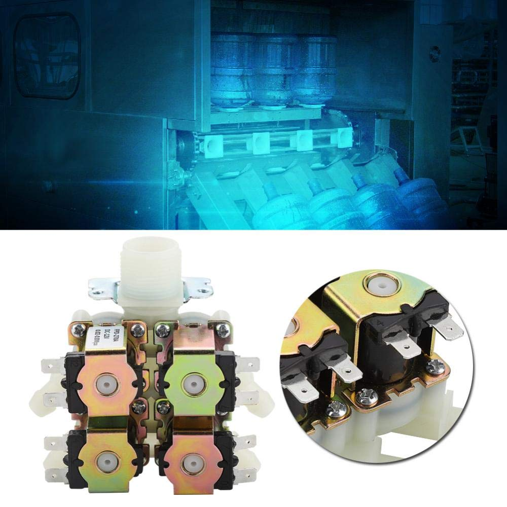 DC 12V DN20 G3//4 1 in 4 Out Durable Plastic/&Brass Electromagnetic Valve Normally Closed Water Drain Valve Electric Solenoid Valve