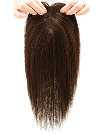 Amazon.com   Mono Human Hair Crown Wig Toppers 7 x 10cm Clip in Topper  Hairpieces for Women with Thinning Hair 0d0124769a