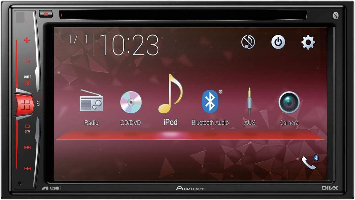 Pioneer 1025923 AVH-A210BT Autorradio Multimedia, Bluetooth, 2-DIN, 6.2