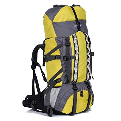 LWJH Imperméable Outdoor Sport Randonnée Trekking Camping Travel Backpack Pack Knapsack,Beige