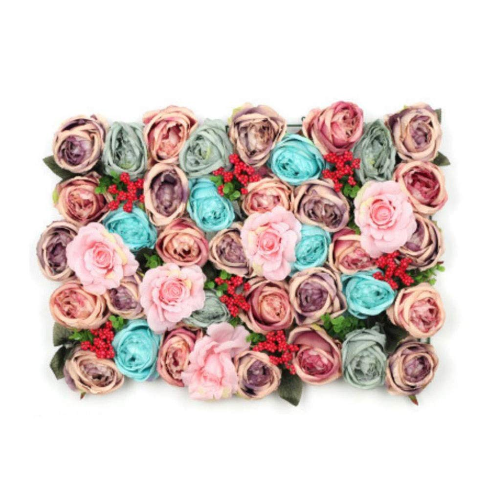 MS Furniture Simulation flower wall background wall rose flower fake flower wedding wall decoration simulation rose wall background wall decoration fake flower net red wedding shop decoration (multipl by MS Furniture