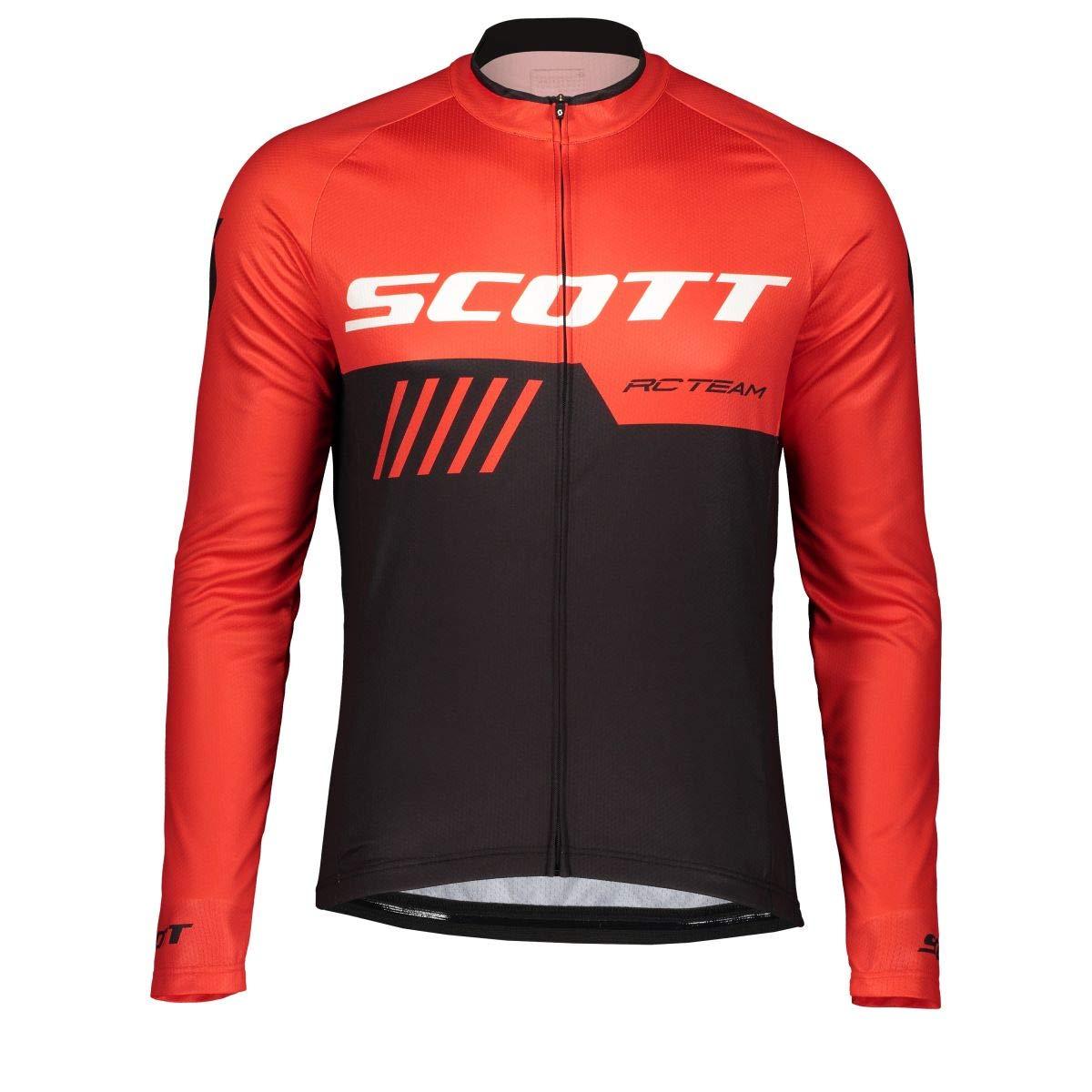 Color Negro y Rojo Maillot de Ciclismo Scott RC Team 10 2019