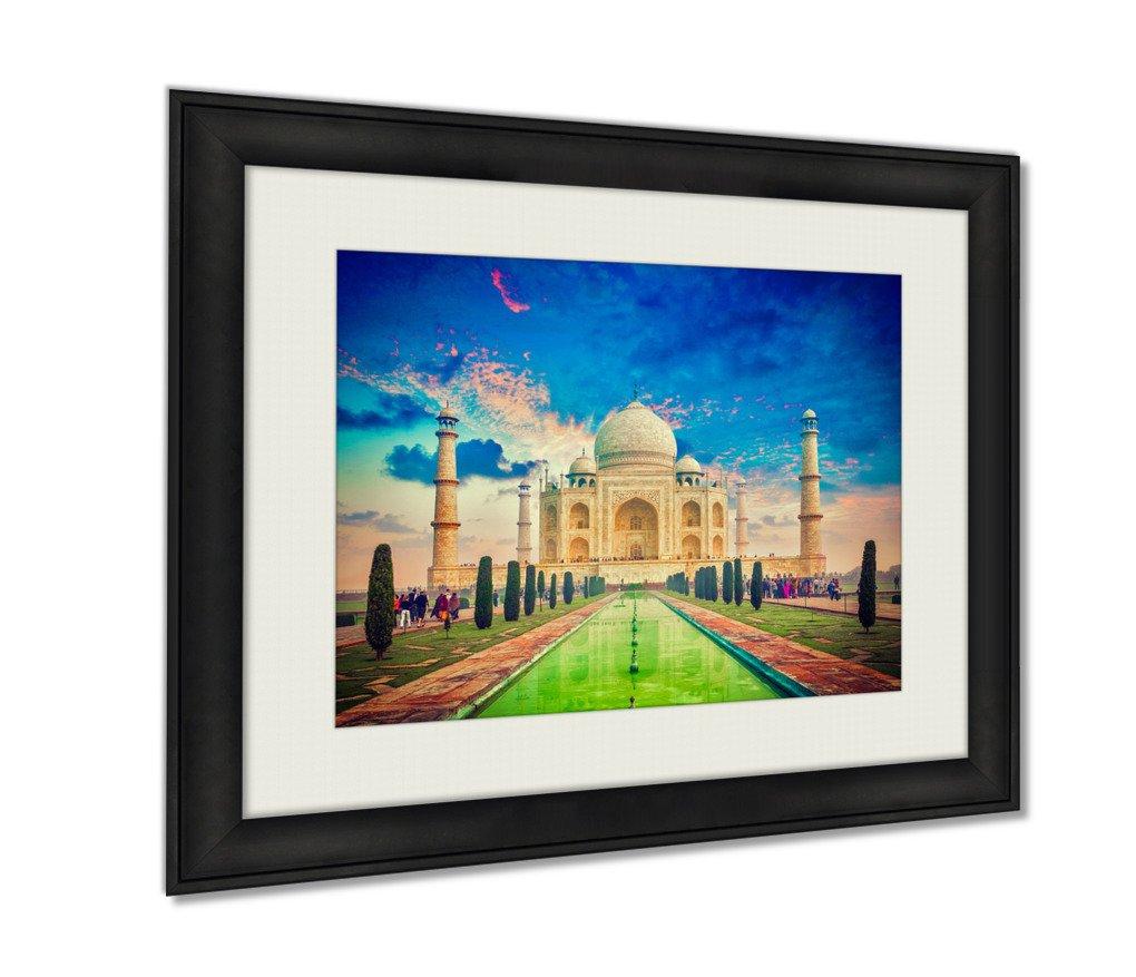 Ashley Framed Prints Taj Mahal On Sunrise Sunset Agra India Art photography interior design artwork framed office 24x30 art