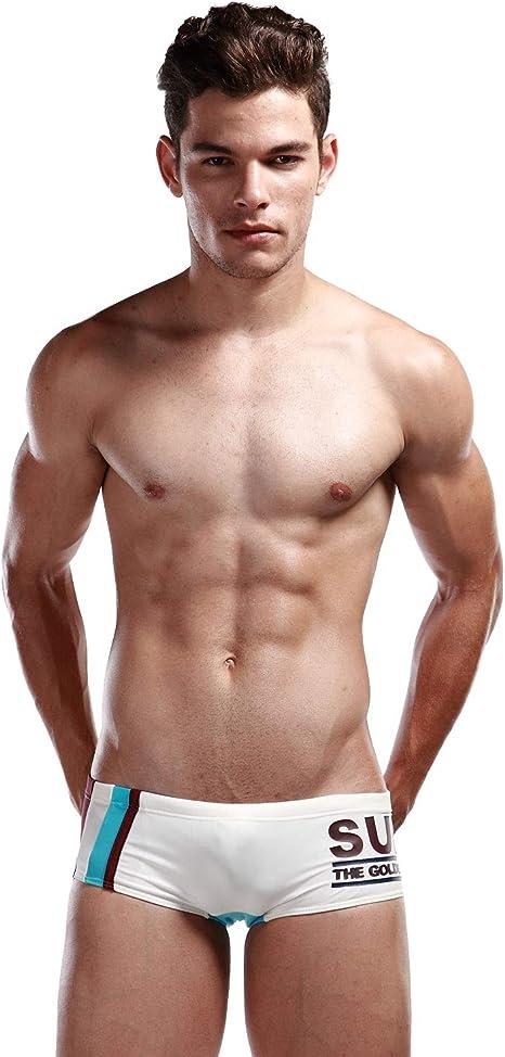 Sommer Männer Schwimmen Boxershorts Badehose Badehose Gerade Badehosen