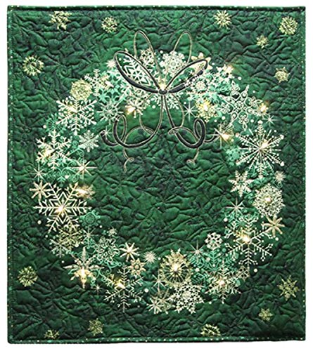 Field's Fabrics Starry Night Wreath Panel Holidays Christmas Quilt Wall-Hanging Fabric Kit - Evergreen Green - Sold by the Kit (M230.04) (Wallhangings Christmas)