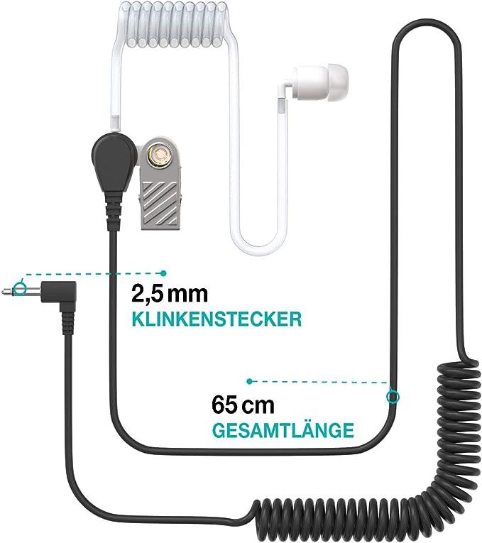 Ohrhörer Schallschlauch 2 5mm Klinke One Ear Elektronik