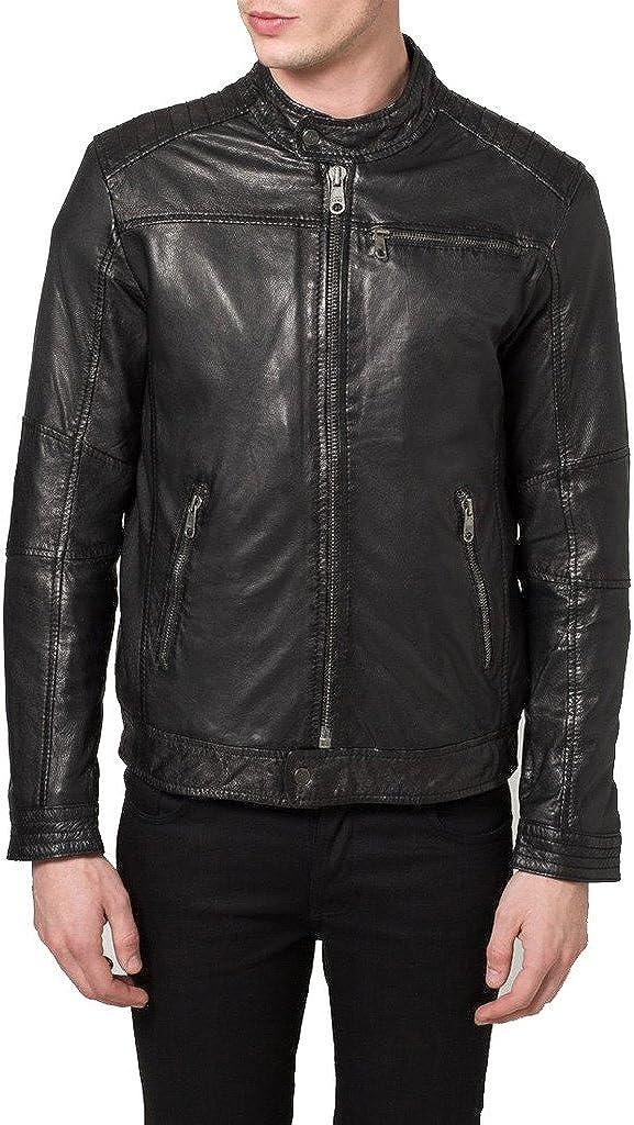 Genuine Sheep Leather Mens Slim Fit Party Jacket LT381