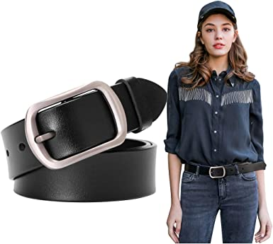 Belt cowhide genuine leather for  men vintage high quality elegant  cowboy jeans