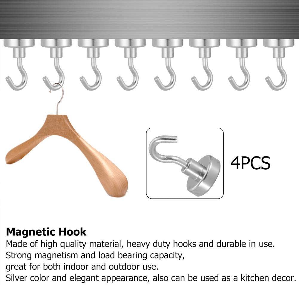 glatter Kratzschutz f/ür Home Outdoor Indoor Office magnetischer Haken H/ängende Haken D25, 4PCS