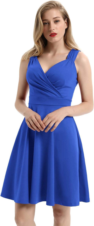 GRACE KARIN Formal Dress for Women Vintage Sleeveless V-Neck Cocktail Swing Dress
