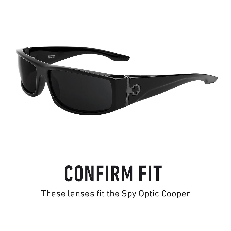 4b24b45f5b Amazon.com  Revant Polarized Replacement Lenses for Spy Optic Cooper Elite  Black Chrome MirrorShield  Sports   Outdoors