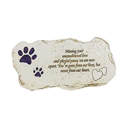 Bjsm Pet Grave Markers Hand Printed Personalized Indoor Outdoor For Garden Backyard Marker Dog Tombstone Loss Of Pet Gifts Shining Paw