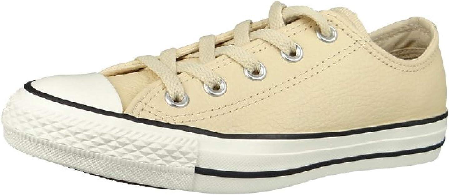 Converse All Star B Cuir Crème: : Chaussures et Sacs