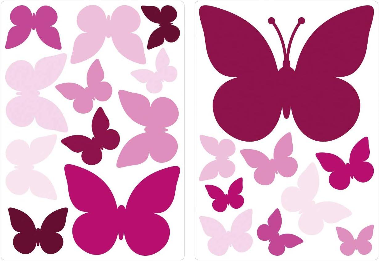 dekodino/® Sticker mural /étoiles violet set de d/écoration