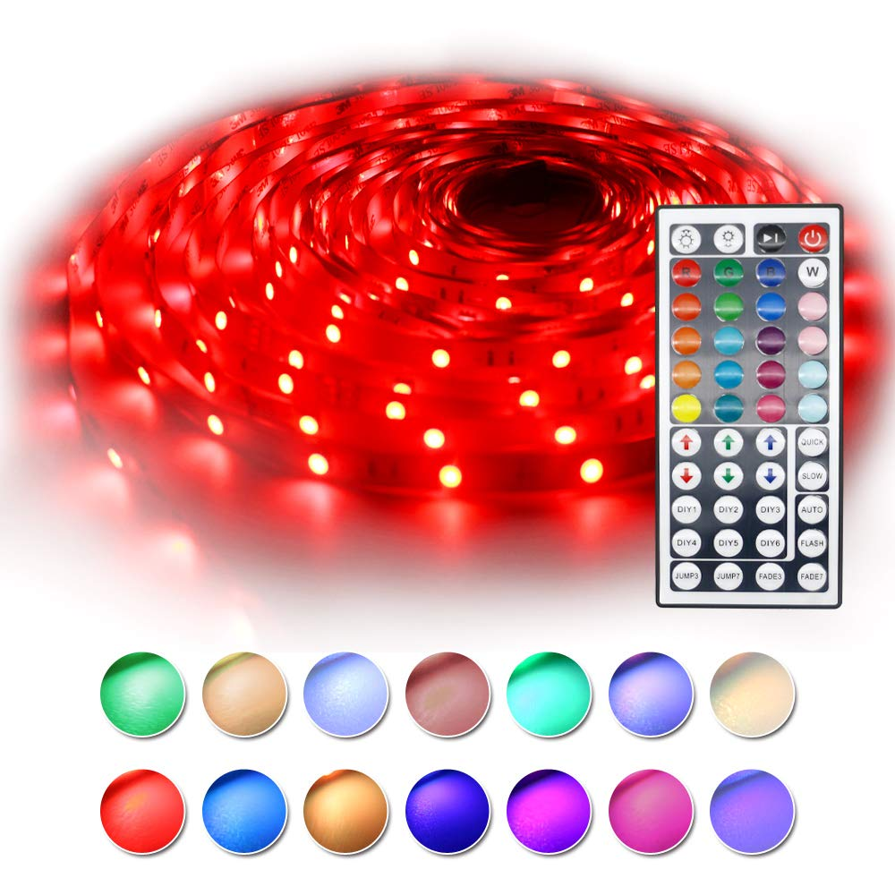 BAILONGJU Led Strip Lights kit 10M 32.8 Ft 5050 RGB 300 LEDs Flexible Color Changing Rope Lights with Remote UL Listed- Led Tape Lights, Led Christmas Lights for Home, Kitchen, Christams Decorative