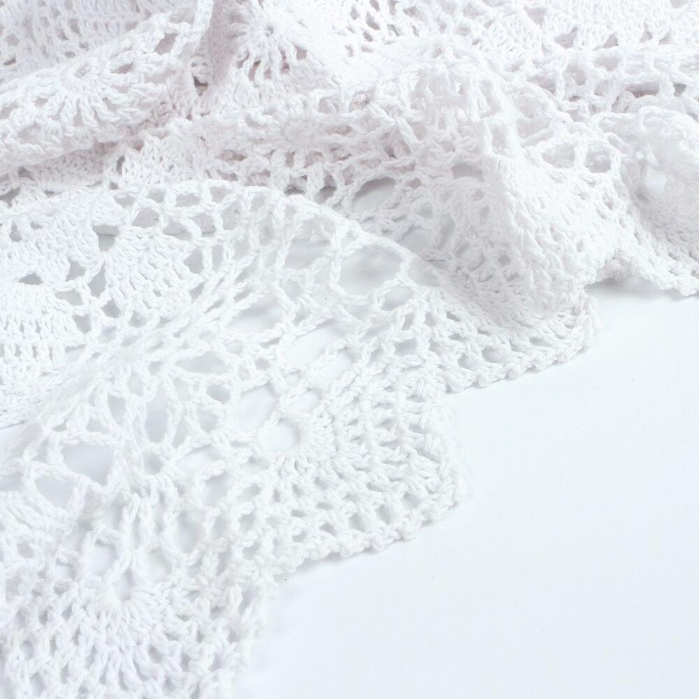 Yazi hueca mantel toalla de mano), diseño de flores de ganchillo moderno sofá Vintage y Color blanco cuadrado de 60 cm: Amazon.es: Hogar