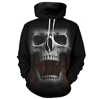 Amazon.com: WEEKEND SHOP Sweatshirts for Men Hoodie Hoodies for Women Hoodies 3D Print Skull Sweatshirt: Clothing