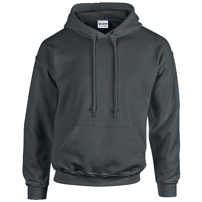 GILDAN - Unisex Sudadera con capucha Pesado Blend - algodón, carbón, 50