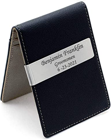 Best Minimalist Wallet 2021 Amazon.com: Free Engraving   Groomsmen/Groomsman Gifts for Wedding