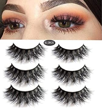 22a95bb2166 3D Mink Fake Eyelashes -100% Handmade 3D Mink Fur Eyelashes for Makeup with  Natural