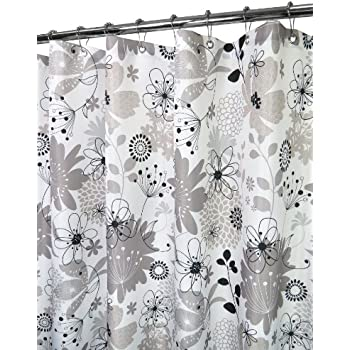 park b smith bloomin shower curtain antique silver