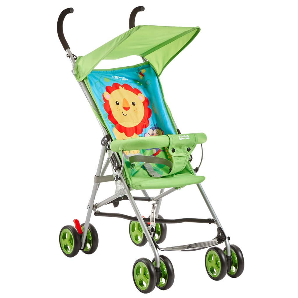 DZFZ Strollers Toddlers Light Fold Cute Cartoon Pattern Comfortable Travel Suitable Girls (Color : C) by DZFZ
