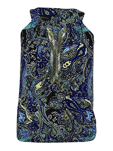 (INC International Concepts Women's Beaded Keyhole Halter Top (PS, Paisley))