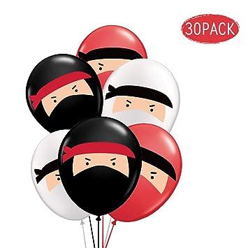 Kreatwow 30 Ballons De Ninja Ballons En Baudruche Rouge