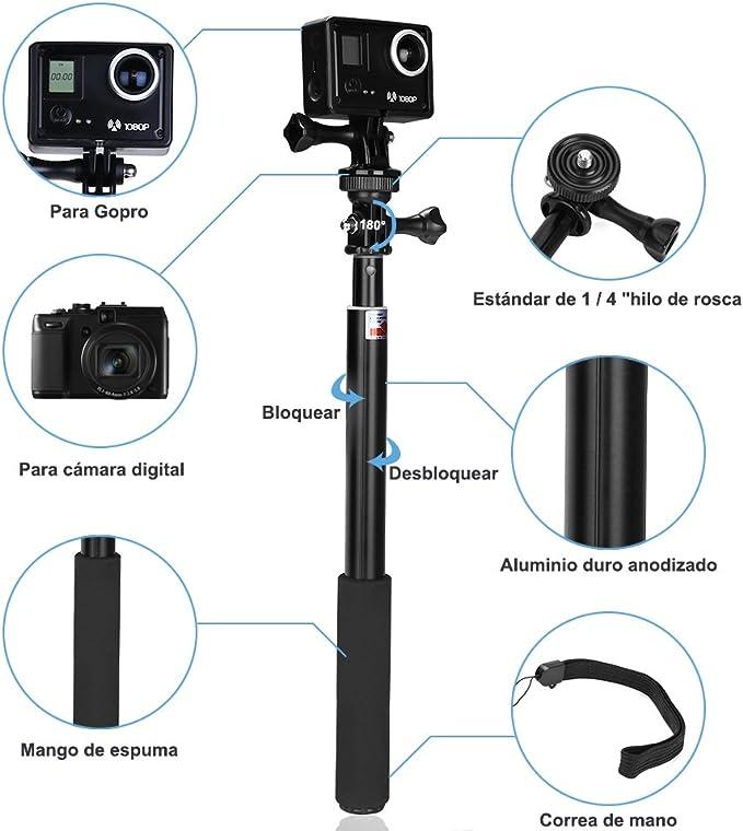 GHB Palo Selfie Gopro para Poste de extensión telescópica Gopro ...