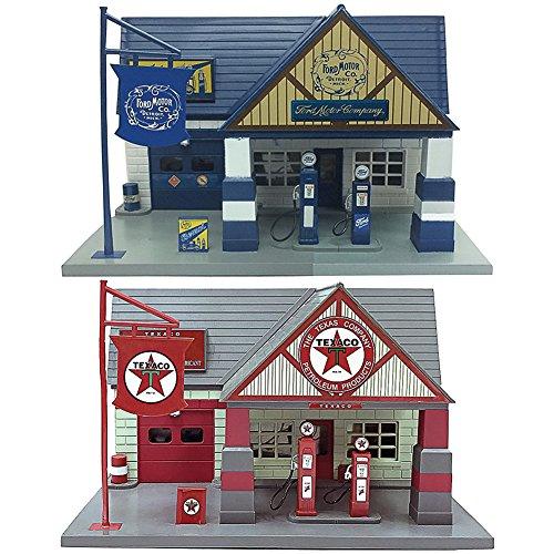 Johnson Smith Co. (Set) Ford & Texaco Motor Company 1940 Classic Service Station 1:32 Scale (Motor Service Company)