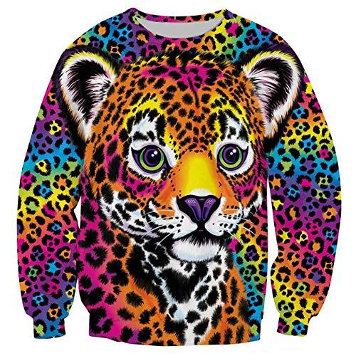 ZeePX Harajuku Sweatshirt 3D Swag Lisa Frank Clothing Gangster Hipster Sweater -