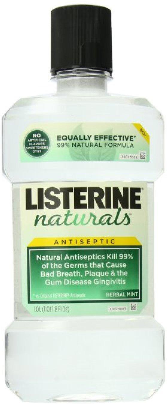 Listerine Nat Antsptc Hrb Size 33.8z Listerine Naturals Anitiseptic Herb/Mint 33.8z